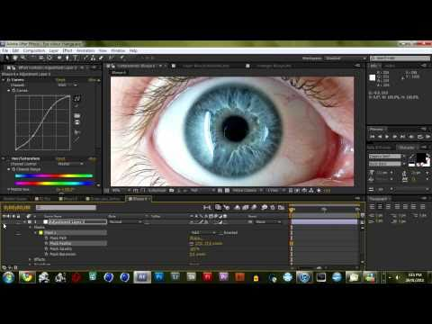 Change Eye Colour in After Effects (Picture's)