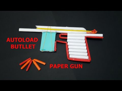 [DIY] How to make a Paper Gun that Shoots with trigger ❤ autoload 5 bullets