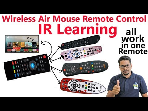 Hindi || Wireless Air Mouse Remote Control with Keyboard ir learning