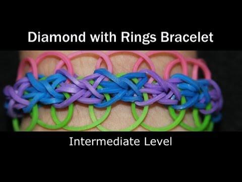Rainbow Loom® Diamond with Rings Bracelet