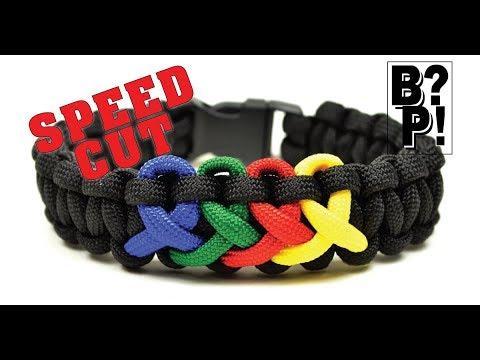 Speed Cut of Make the Autism Awareness Bracelet  - BoredParacord.com
