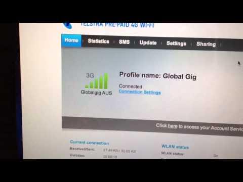 Global Gig Sim in Huawei e5372 modem