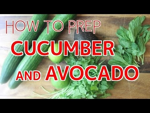 How to Prep Cucumber & Avocado for Sushi 【Sushi Chef Eye View】