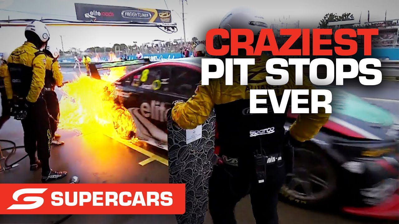 Craziest pit stop moments EVER | Supercars 2021