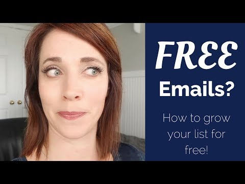 Free Emails?  How to grow your email list for FREE! | Alison Prince 0-100K