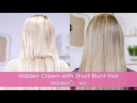 Blending  with Short Blunt Hair - Hidden Crown