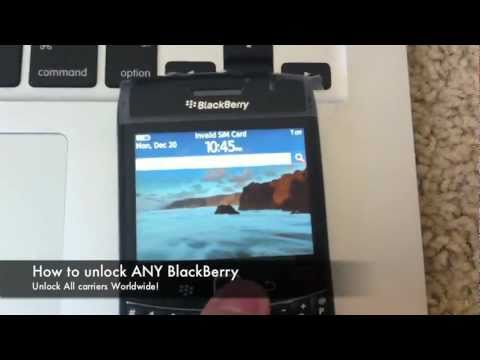 How to Unlock Blackberry Phone - locate IMEI & enter Code / Remove