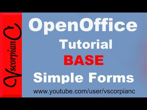 OpenOffice Base Tutorial - How to Create Simple Forms by VscorpianC