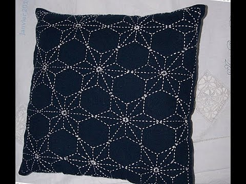 Sashiko Embroidery // Quilt Design Tutorial-26- For Very Beginners