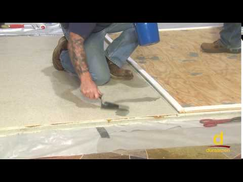 How to encapsulate vinyl tile with concrete topping? Part 1/3