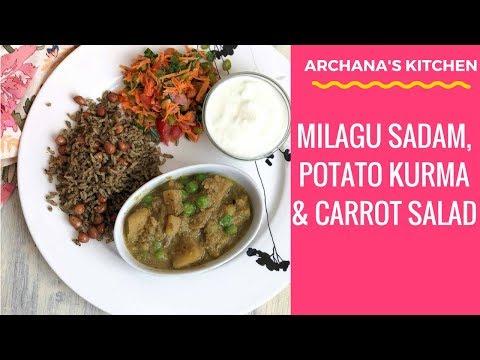 Potato Curry & Milagu Sadam - Dinner Recipes By Archana's Kitchen