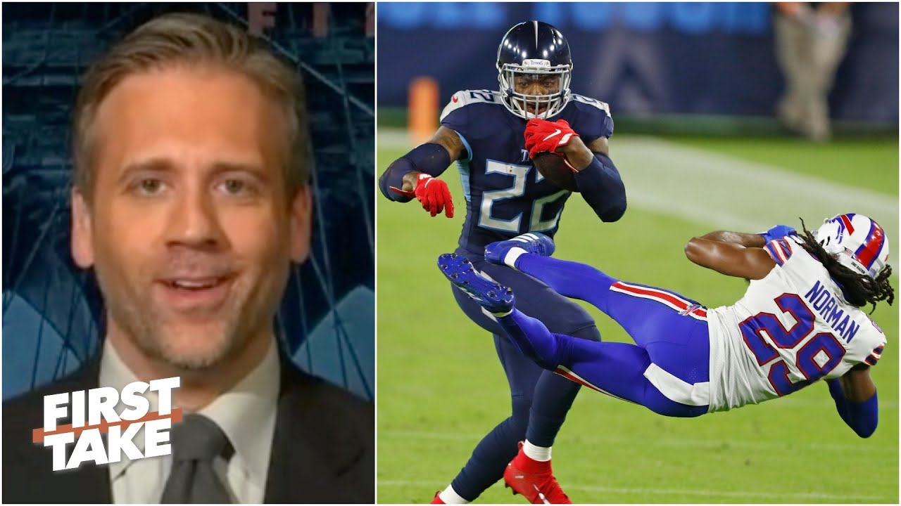 First Take reacts to Derrick Henry sending Josh Norman flying with a stiff arm