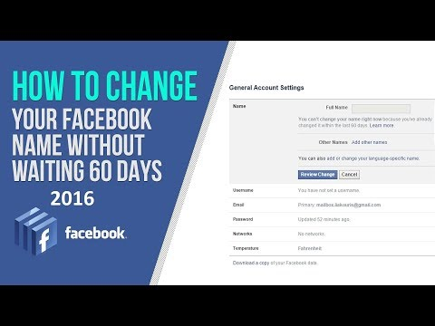 How To Change Your Name On Facebook Before 60 Days In Urdu And Hindi