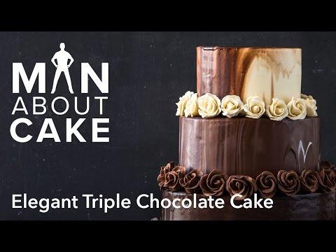 (man about) Elegant Triple Chocolate Cake | Man About Cake
