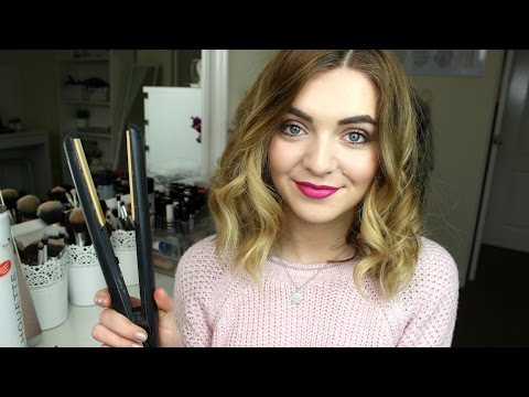 How to Curl Short/Medium Length Hair with Straighteners | Jamie Johnston