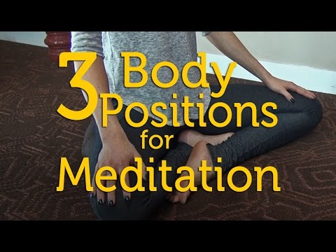 How to Meditate: 3 Body Position Options