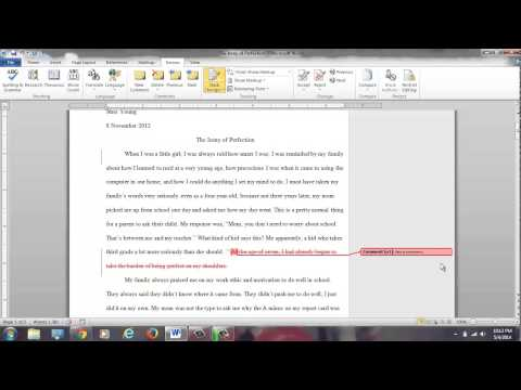 Revision Help with Microsoft Word