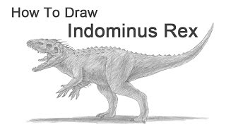 how to draw indominus rex full body jurassic world tutorial