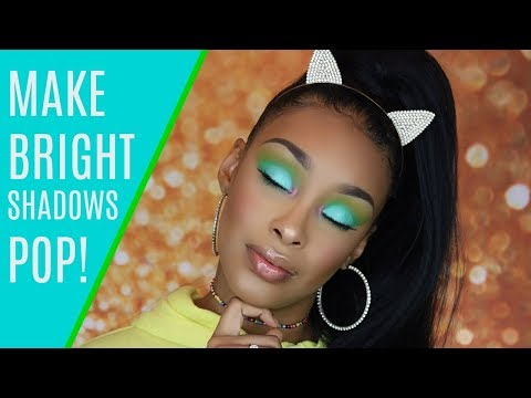 HOW TO MAKE BRIGHT EYESHADOWS POP ON WOC | TIPS/TRICKS TO GETTING SHADOWS TO SHOW UP & SHOW OUT!