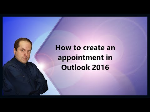 How to create an appointment in Outlook 2016