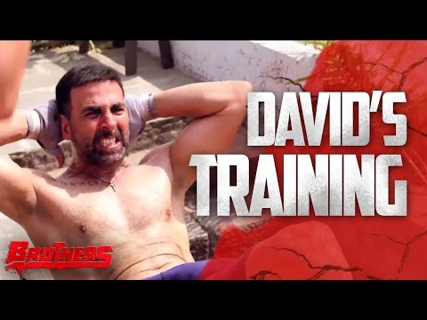 Davids Training  Brothers Behind The Scenes  Akshay Kumar