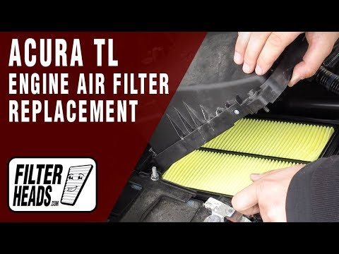 How to Replace Engine Air Filter 2013 Acura TL V6 3.5L