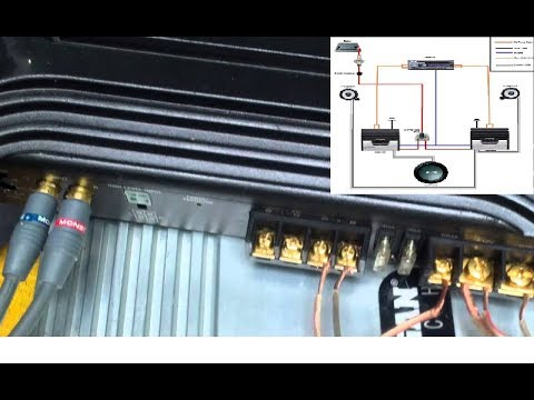 How to connect your car amplifier. A very simple explination and test.