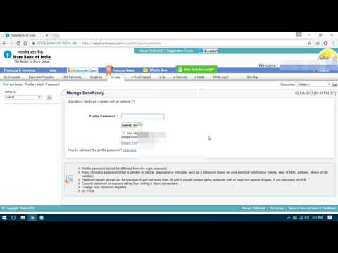 how to add another account in sbi net banking
