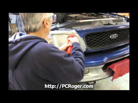Ford F150 Headlight Restoration The Easy Way - 3M Power Drill System