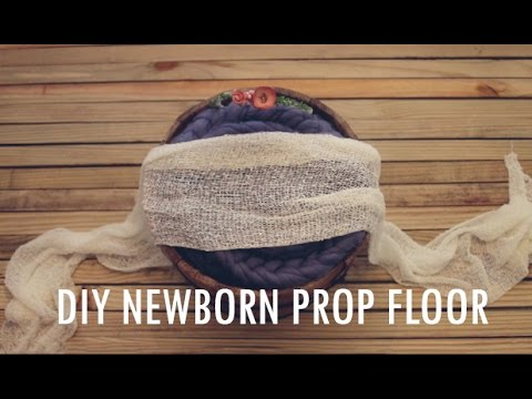 $15 DIY Newborn Wooden Floor Prop