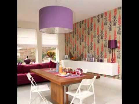 Contemporary living room wallpaper design ideas