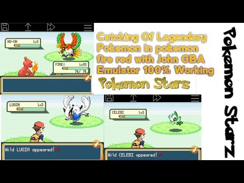 Catching of legendary Pokemon in Pokemon fire red with John GBA Emulator HD