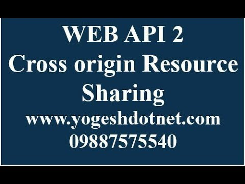cross origin resource sharing using cors in web api | Jquery Post example | Hindi