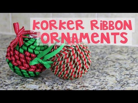 Korker Ribbon Christmas Ornament Tutorial