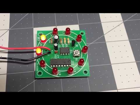 555 Lucky Rotary Suite Electronic DIY Kit / LED Roulette Wheel