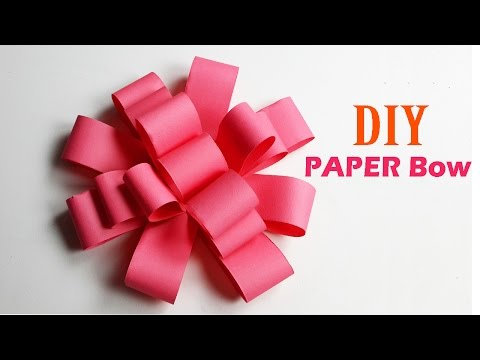 How to Make Easy Paper Bow Step by Step - DIY Paper Crafts - Origami Tutorial