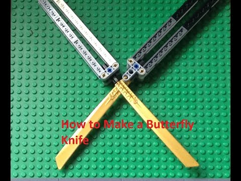 How to Make a Lego Butterfly Knife