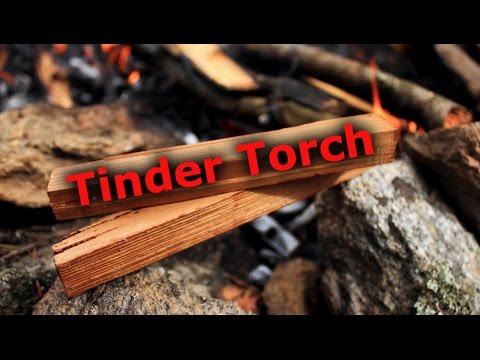 Awesome Way to Start a Fire | Tinder Torch Kindling