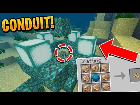 HOW TO USE CONDUITS IN MINECRAFT!! - Aquatic Update Conduit Guide (PE/WIN10/XBOX/PC)