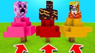 Minecraft PE : DO NOT CHOOSE THE WRONG TREE! (Friendly Creeper, Fire Golem & Elemental King)