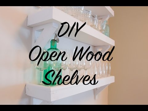 DIY Open Wood Shelves