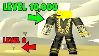 ROBLOX GOD SIMULATOR *LEVEL 0 TO 10,000 IN 1 SECOND*