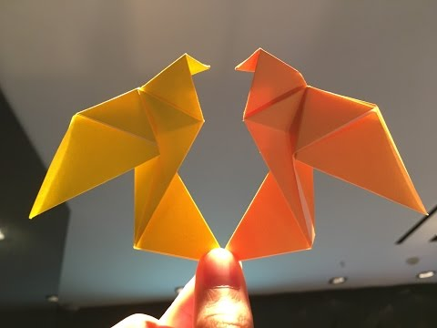 How to make Origami Dove Paper - Origami Tutorial Video