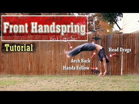 How to do a Front Handspring | Tutorial - Short & Detailed!