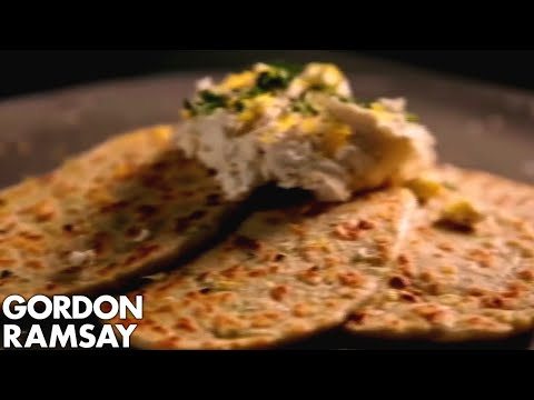 Leek Flatbreads with Ricotta and Lemon | Gordon Ramsay