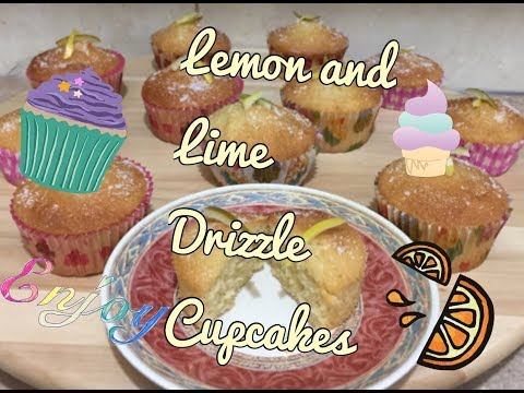 Lemon and lime drizzle cupcakes
