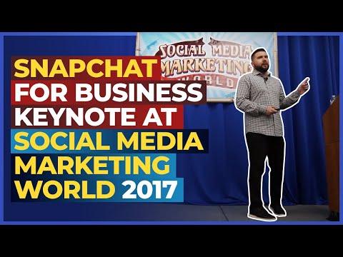 Snapchat for Business Keynote at Social Media Marketing World 2017