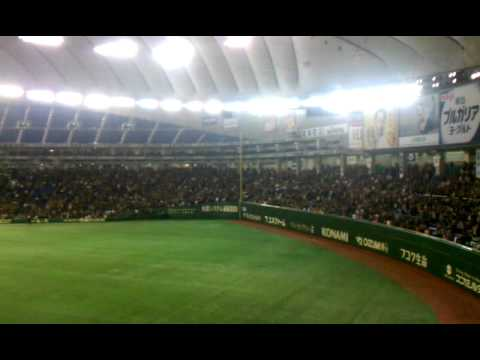 National Anthems A's v Yomiuri Giants