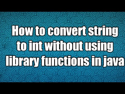 How to convert string to int without using library functions in java