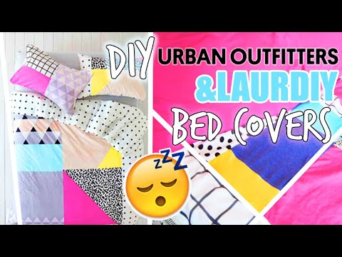 DIY LAURDIY APARTMENT TOUR BLANKET // DIY URBAN OUTFITTERS INSPIRED COLORBLOCKED SHEETS
